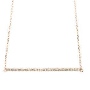 银项链粉红色发夹镶有白色宝石3