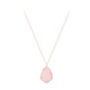 粉红银项链配粉红色的石纹徽章4