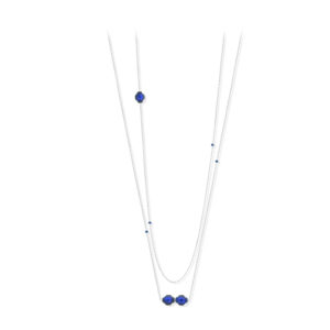 银项链Rhodia Muliti纸牌蓝色镶嵌5