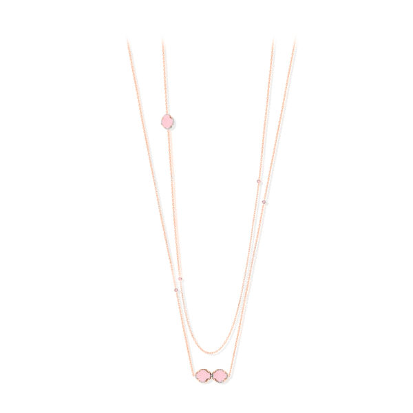 银项链粉红色多人纸牌玫瑰套装1