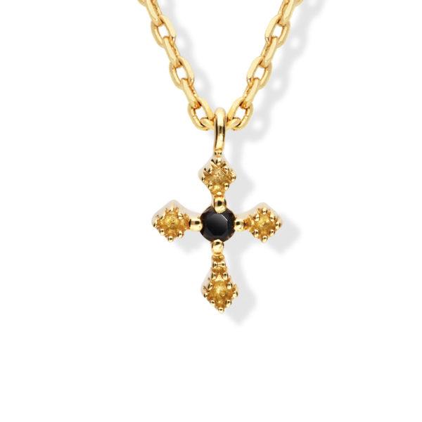 金项链小黑十字架1