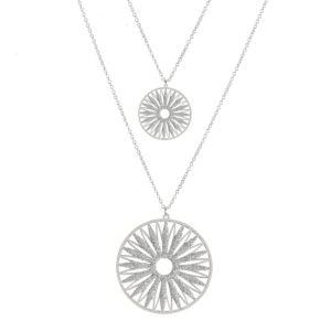 双项链银闪耀的soleil rhodie 6