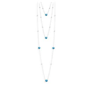 长双银项链情人节水晶绿松石5