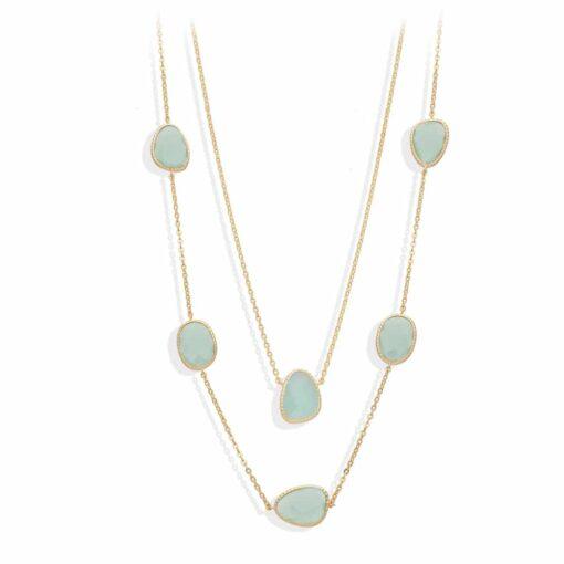 长项链长金银维多利亚水晶绿水3