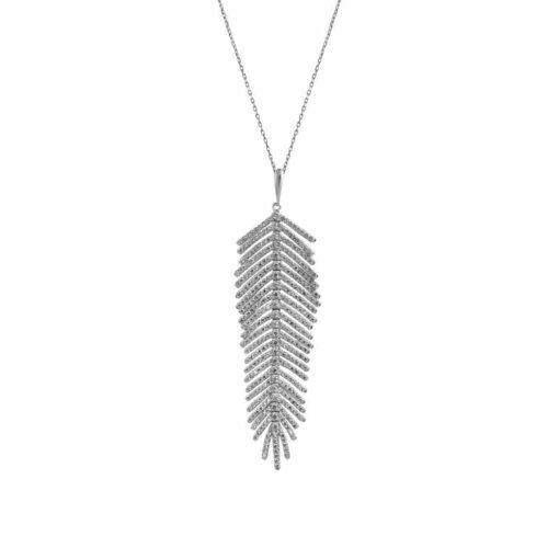 Silberfeder Halskette Set 3