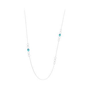 长项链银银宝石绿松石4