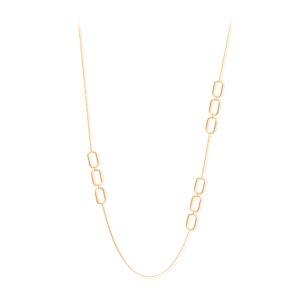 镀金银色长项链olga镶有黑色锆石2