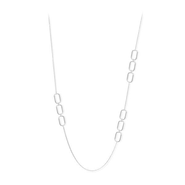 奥尔加银长项链,镶有白色锆石1