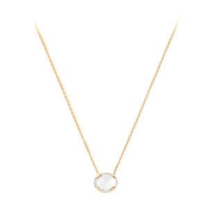 白色水晶单人项链7