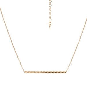金色水平茎项链6