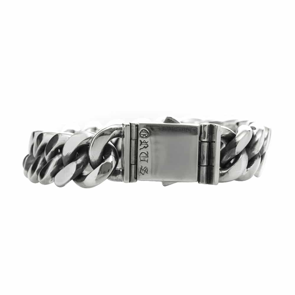 Gourmette bracelet argent grand modèle 2