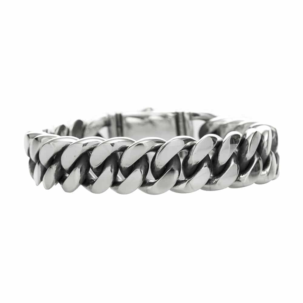 Gourmette bracelet argent grand modèle 4