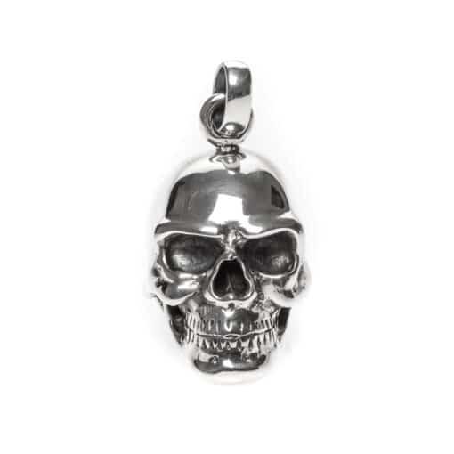 Skull hanger zilveren schedel 3
