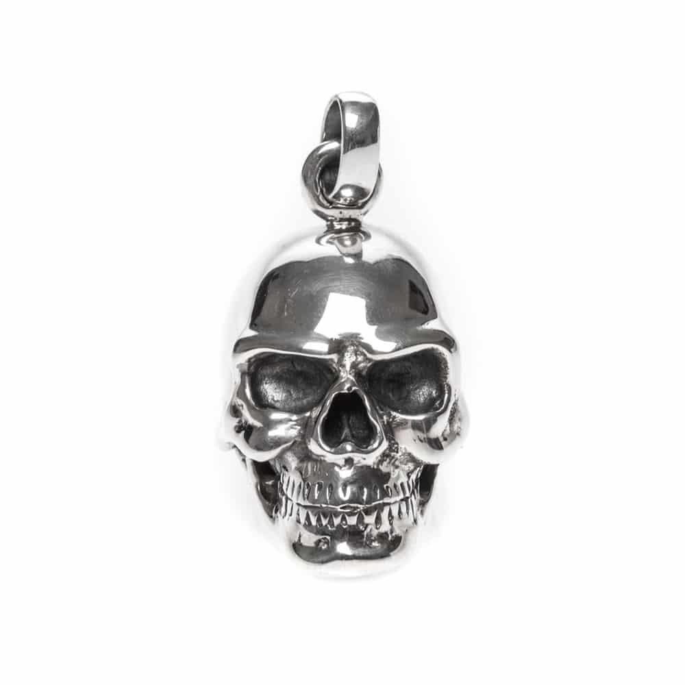 Tête de mort pendentif skull argent 2