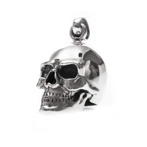 Skull hanger zilveren schedel 4