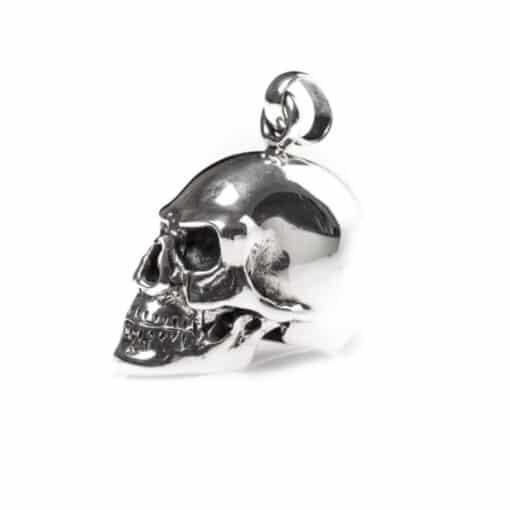 Skull hanger zilveren schedel 6